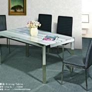 不锈钢现代时尚优雅型客厅餐桌图片
