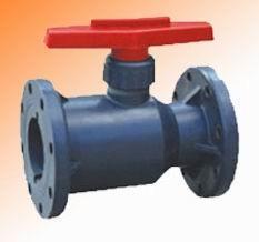 供应RPP/PVC/PVDF法蘭塑料球阀Q41F-10S,全塑料球阀