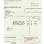 中新自贸区优惠产地证书FORMX图片