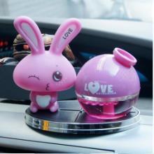 供应爱心兔子香水love兔汽车香水座汽车香水批发销售批发