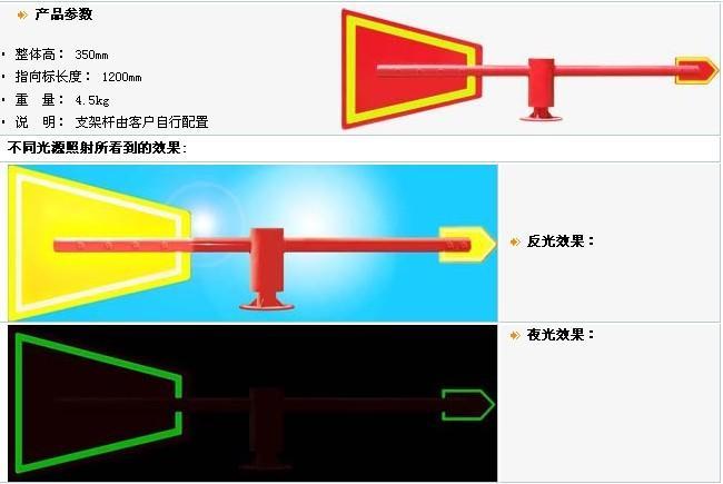供应夜光金属风向标/led风向标