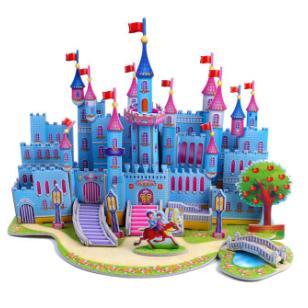 立体拼图4片装蓝色城堡图片