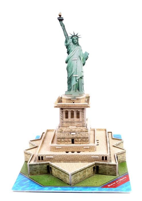 拼图 自由女神像/供应益智玩具拼板拼图 建筑模型自由女神像图片