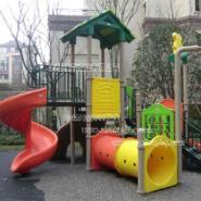 重庆万盛室外塑料组合滑梯图片