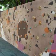 重庆渝北原木色攀岩墙图片