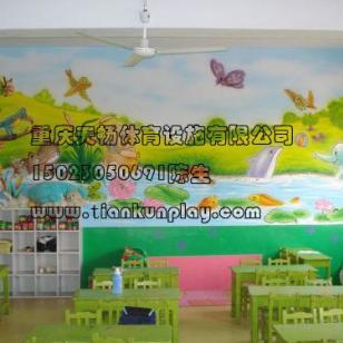 渝中区幼儿园木质桌椅图片