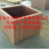 供应青岛加工花箱/木塑花箱/防腐木花箱