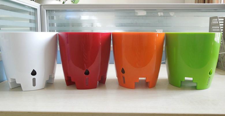 花里巴巴工位固定花盆懒人塑料花盆销售