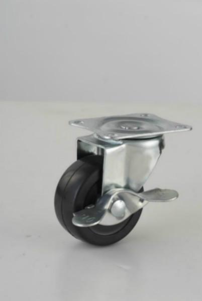 2寸平板活动橡胶脚轮轻型橡胶轮图片/2寸平板活动橡胶脚轮轻型橡胶轮样板图 (2)
