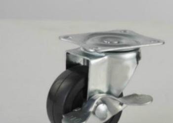 2寸平板活动橡胶脚轮轻型橡胶轮图片