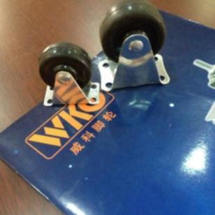 1.5寸固定橡胶脚轮万向轮工业图片