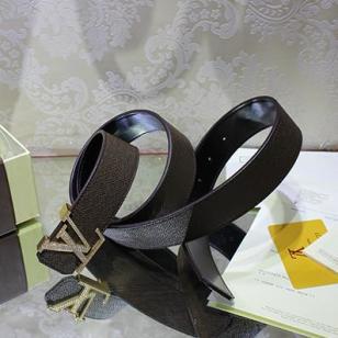 路易威登原版镶钻LV扣腰带图片
