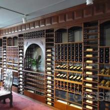 广东商业实木红酒酒架设计
