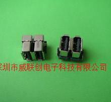 供应双层侧插90度短体USB卷边新款A母