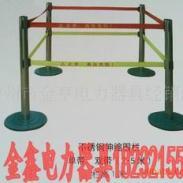 高压四立柱型不锈钢伸缩围栏图片