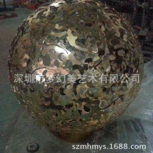不锈钢镂空球雕塑厂家图片