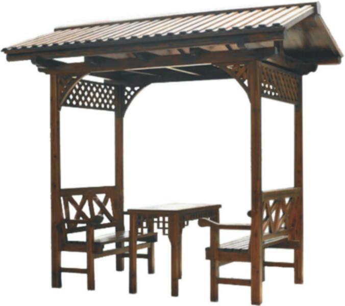 供应松木休闲桌椅-松木双人车轮椅-松木户外家具-松木炭化木户外家居