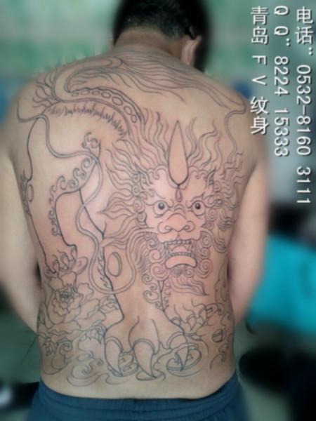 青岛/供应青岛最酷狼图腾纹身,青岛过肩龙纹身,青岛后背龙纹身图片