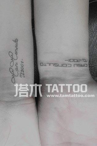 字母纹身腿部图片_字母纹身腿部图片大全_字母纹身_一