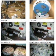 供应服装布料销毁真皮包包废料销毁图片