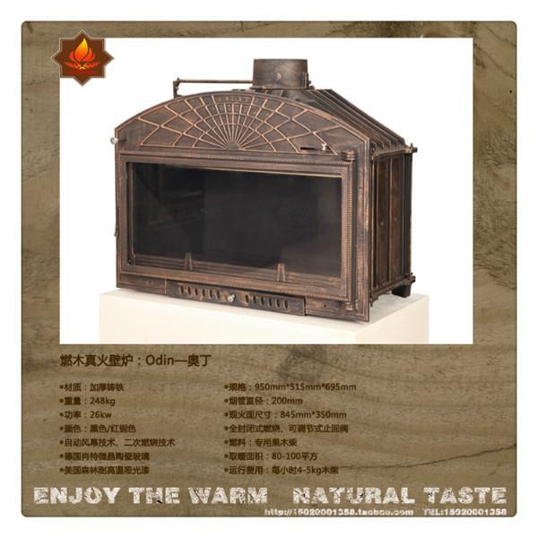 燃木真火壁炉嵌入式铸铁壁炉奥丁图片大全图片