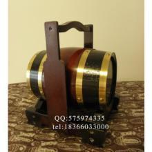 橡木酒桶架/橡木桶酒架/提篮式酒桶架/红酒桶架/3L橡木桶酒架图片