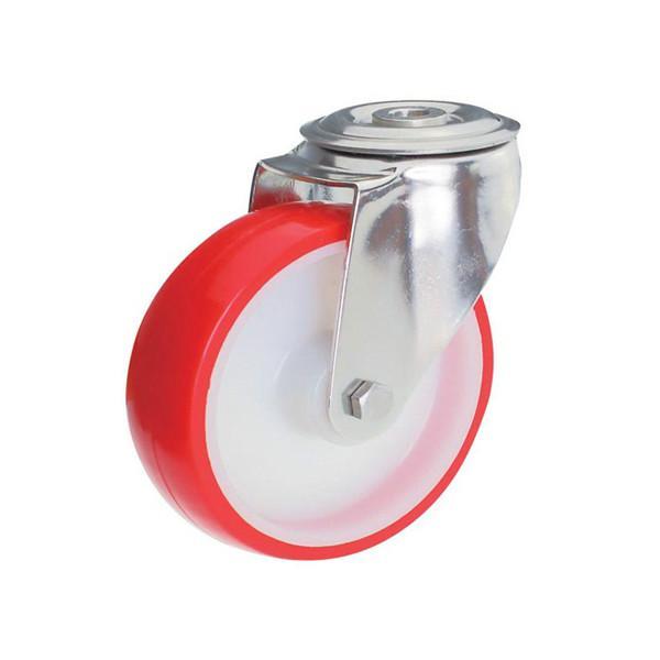 不锈钢脚轮白尼龙轮红聚氨酯轮图片/不锈钢脚轮白尼龙轮红聚氨酯轮样板图 (3)