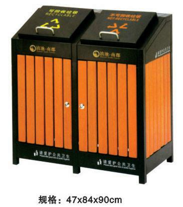 厂价供应优质钢木垃圾桶