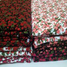 供应丝光棉印花布料,双丝光棉印花布厂家