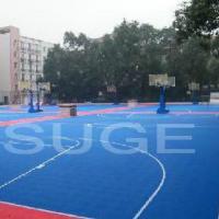 供应室外篮球场运动拼装地板生产