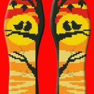 纯棉手工印花十字绣鞋垫手工半成品图片