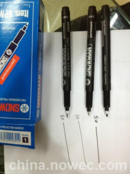 供应最细油性笔笔尖极细记号笔