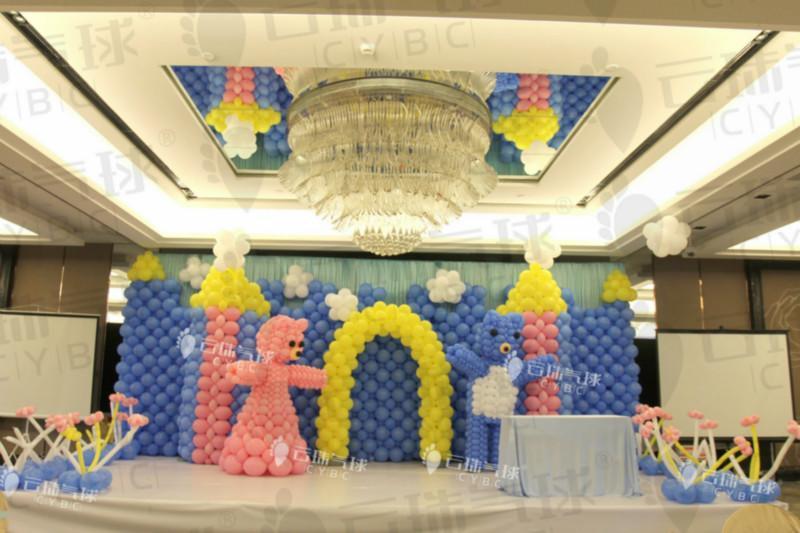 供应气球宝宝宴/气球周岁宴/成都气球装饰/楼盘气球装饰