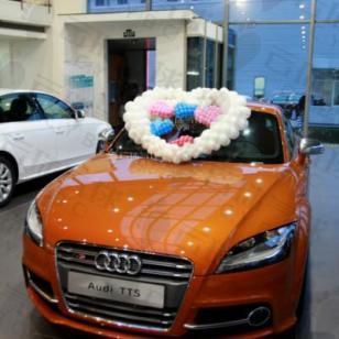 汽车装饰/奥迪装饰/气球装饰布置图片