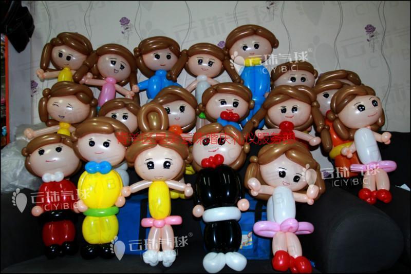 供应宝宝宴气球布置/气球装饰造型装饰/萌娃大合集/气球人