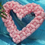 情人节气球装饰/心形气球布置图片