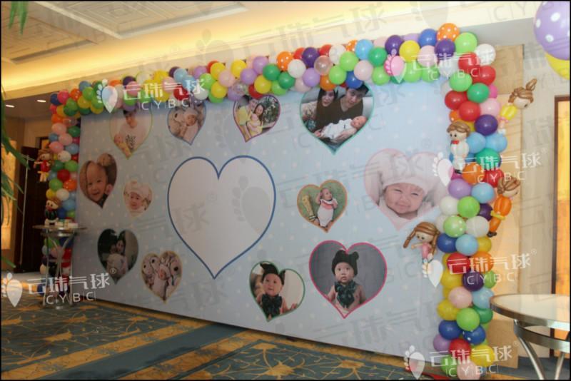 供应宝宝宴气球布置/百日宴装饰/周岁宴布置/气球布置