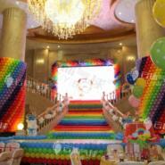 百日宴气球装饰/气球造型/气球背景图片