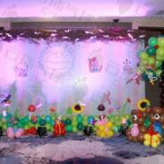 成都宝宝宴气球布置/气球装饰图片