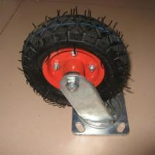 供应6x2万向橡胶充气脚轮平板车轮批发