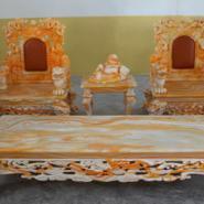 供应玛瑙玉石家具,玉石做的桌椅好吗,玛瑙玉石家具新款古典西餐桌