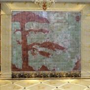 湖北玉石背景墙厂家图片