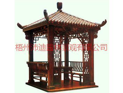供应广西凉亭规格与价格,碳化木凉亭,防腐木凉亭,塑木凉亭