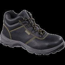 代尔塔高帮双钢牛皮安全鞋图片