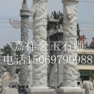 石雕龙柱图片_盘龙柱设计效果图图片