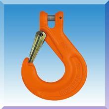 羊角抓钩,带舌片羊角滑钩,G80欧式羊角安全钩/安全起重羊角吊钩批发