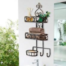 铁艺毛巾架挂钩肥皂架浴室置物架壁挂架多层批发