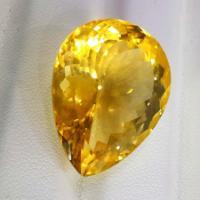 供应34.505克拉天然大黄水晶裸石