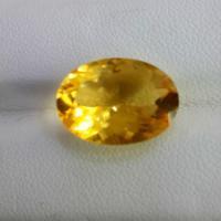 供应6.69克拉椭圆形黄水晶戒面裸石 黄水晶批发