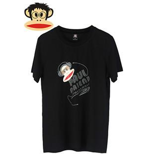 供应大嘴猴男装T恤大嘴猴时尚圆领短袖男士荷泽大嘴猴招商加盟